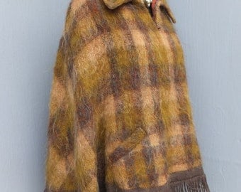 Vintage Mohair Cape, The Scotch House, Winter Cape or Coat