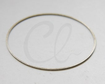 2pcs Antique Brass Flat CLOSED Ring - Link - Loop 60x1mm (3047C-N-43)