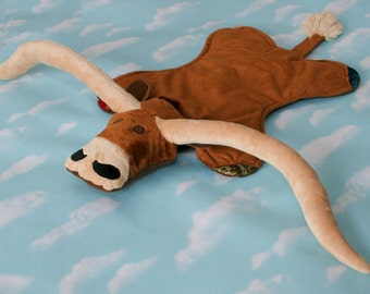 Personalized Minky Texas Longhorn Security Blanket