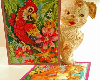 Oversized Vintage Greeting Cards - The Safari Set