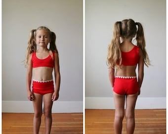 ON SALE NOS, 1960s Athletic Bikini >>> Girls Size 4t/5t