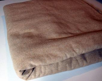 """VINTAGE Tan Wool Suiting. 3 yards x 54""""wide."""