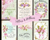 Collage Sheet Lilly & Ribbons