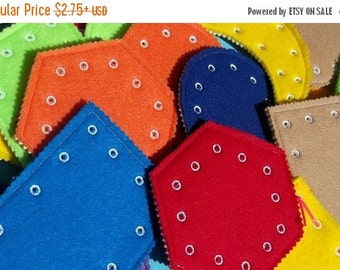 SALE Lacing shape cards sewing cards