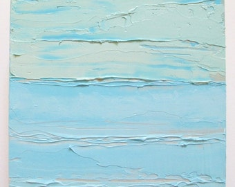 Abstract ocean painting: Seafoam Skies, ocean scene, beach, abstract art, beach art