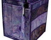 Handmade Table Top Organizer in Purple Batik Fabrics