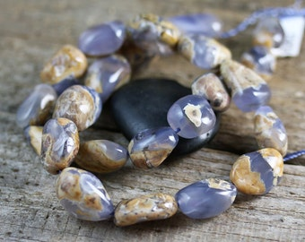14-21mm Natural Chalcedony Nugget Beads 1/2 Strand