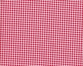 Lecien Japanese Import Color Basic Mini Gingham in Red and White - Half Yard