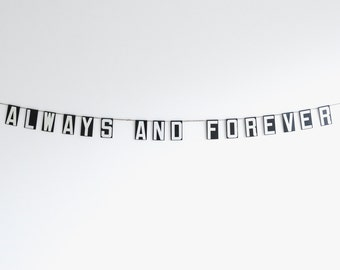 always and forever | vintage modern bunting | 3""