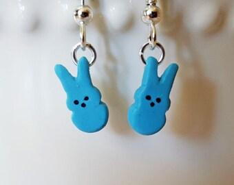 Bunny Peeps Earrings - Food Jewelry - Easter Earrings