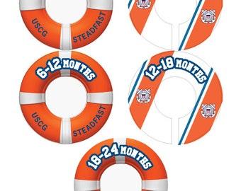 Coast Guard Baby Closet Dividers