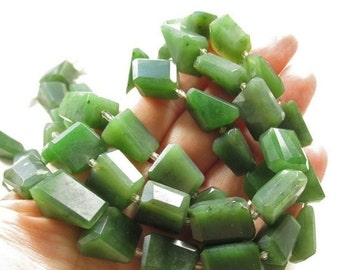 25% Off Sale Natural Green Jade Nugget Beads,