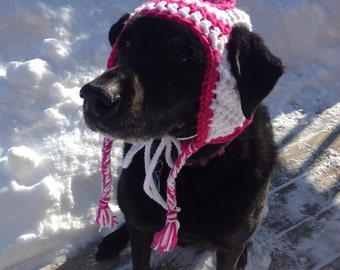 Earflap hat for retrievers and other large dogs