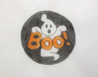 Halloween BOO Ghost Handpainted Needlepoint Canvas