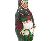 Christmas Art Doll Ornament Holly
