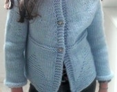 Cardigan Knitting Pattern - Jacket Sweater - Teens Adult Seamless Top Down - Ciara a top down seamless yoked cardigan (6 Sizes Teen - XXL)