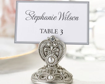 4 Jeweled Place Card Holders Wedding Placecard Holders Craft Supply