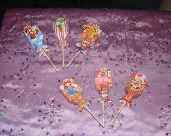Super Mario Lollipops Made To Order