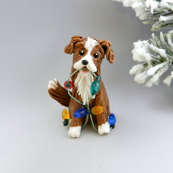 Nova Scotia Duck Tolling Retriever Christmas Ornament Figurine Lights Porcelain