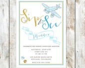 Sip and See Baby Shower Invitation - Vintage Baby Sip and See Shower Invitation - Vintage Baby Shower Invitation