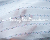 Dainty Floral Stripe - Vintage Fabric New Old Stock Polka Dots Doll Clothes (Reserved)