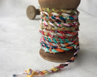 Spool of Handmade Fabric Twine  T406