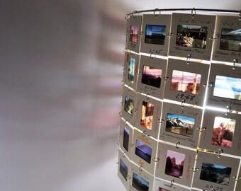 Photo slide lamp shade, Colorado travel slides
