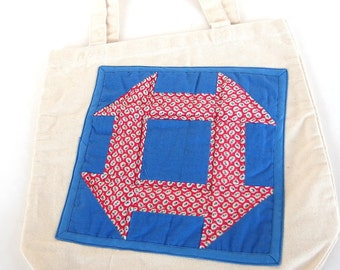 Appliqued Canvas Tote for Adult Female