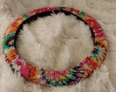 Mad About Mod * Tie Dye *  Steering Wheel Cover * Seat Belt Cover