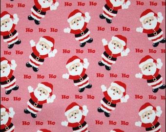Santa HoHoHo euro import knit 1/2 yard