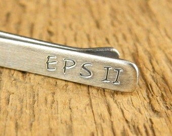 Graduation gift for men, engraved tie clip, personalized tie bar, sterling silver tie clip with initials, keepsake gift.