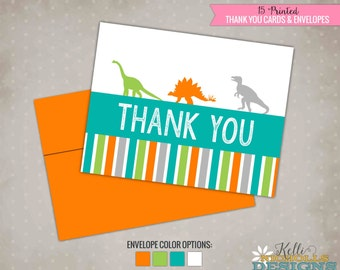 Boys Dinosaur Thank You Cards, Birthday Dino Thank You Notes, Birthday Party #B127