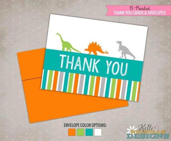 Niños dinosaurio tarjetas de agradecimiento cumpleaños Dino
