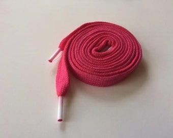 Hand Dyed Shoe Laces (27 inch length) Purely Pink