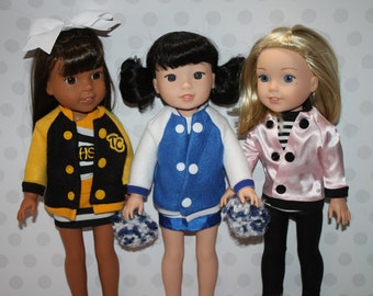 Spirit Jacket doll clothing PDF Sewing Pattern Sized for 14.5 inch Wellie Wisher American Girl dolls