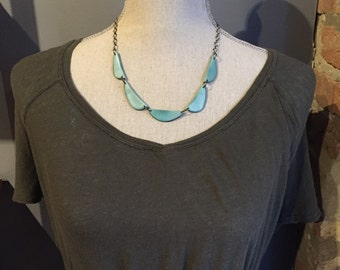 Sky blue scallop necklace Other Colors Available