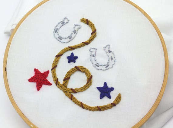 Cowboy Embroidery Pattern Old West Hand Embroidery Pattern