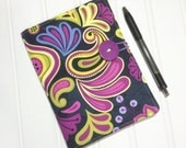 Mini Shopper - Notepad holder List taker - Purple Paisley