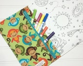NEW - Color me wallet with washable markers - Color, wash, repeat  - Jungle monkey