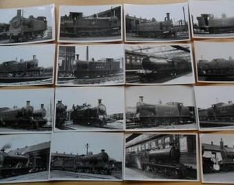 Vintage Steam Train Photos - Lot 1