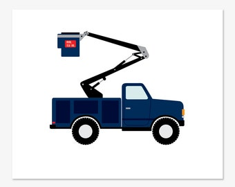 Bucket Truck Print