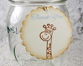 Baby Giraffe tags for baby shower Baby gift tags Set of 12 Size 2 inch