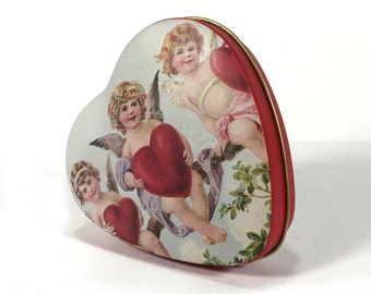 Vintage Heart Shaped Tin - Very Pretty for Valentines, Weddings!