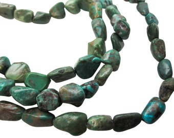 Turquoise Nugget, Turquoise Beads, Green Blue Turquoise, December Birthstone, SKU 5160A