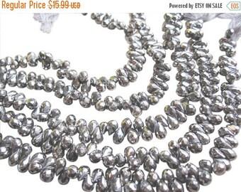 SALE Pyrite Briolettes, Faceted Pyrite Beads, Pyrite Teardrops, SKU 2861