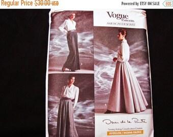 on SALE Vogue Oscar de la Renta Evening Length Skirt Pattern Misses size 12 14 16 UnCut 1980s Vintage Vogue Sewing Pattern