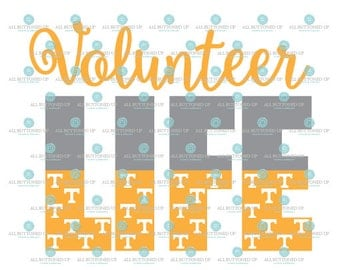 Volunteer LIFE Vols Football digital cut file: svg, dxf