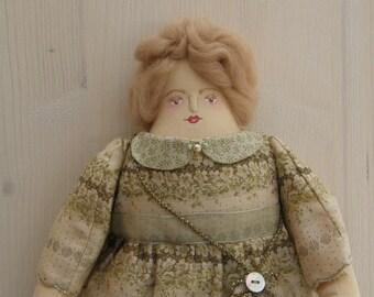 Olive - A Folk Art Rag Doll