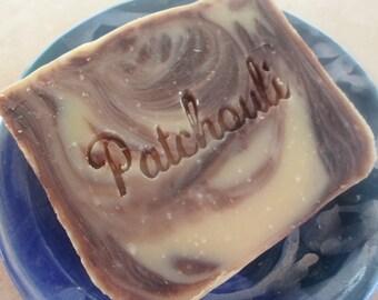 Patchouli Soap - Cold Process Soap - Vegan Soap - Handmade Soap - SLS Free soap - Palm free soap - aquarian bath
