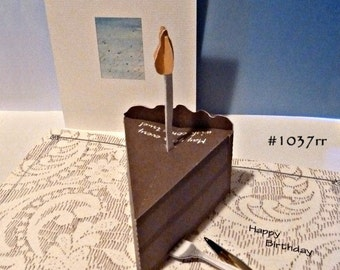 Cake Pop-Up Card - Item 1037RR Made in USA